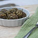 Lentil Meatballs with Lemon Pesto